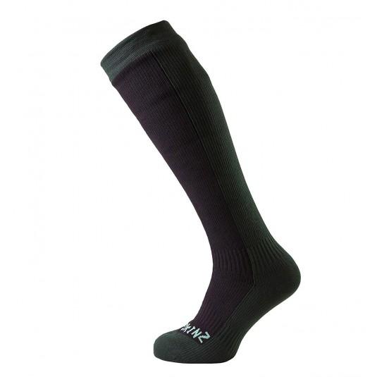 SealSkinz Hiking Mid Knee Waterproof Socks Black/Green