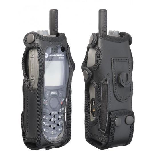 Leather Motorola Radio Case Klick Fast And Belt Attachment