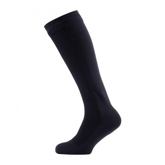 SealSkinz Hiking Mid Knee Waterproof Socks Black/Grey