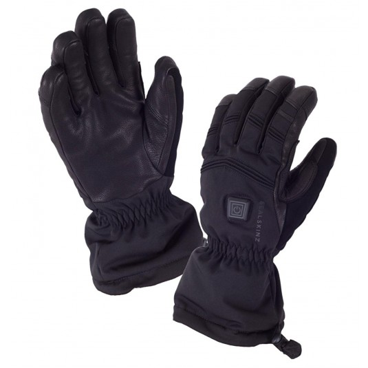 SealSkinz Extreme Cold Weather Heated Waterproof Gloves Black
