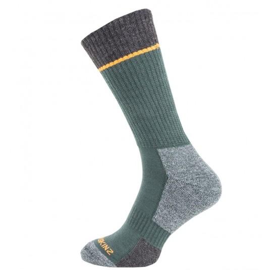 SealSkinz Solo Quickdry Mid Length Non Waterproof Socks Green/Grey/Orange