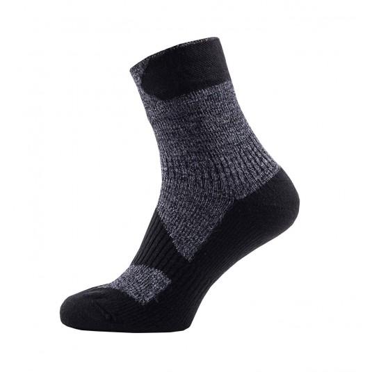 SealSkinz Walking Thin Ankle Waterproof Socks Dark Grey/Black