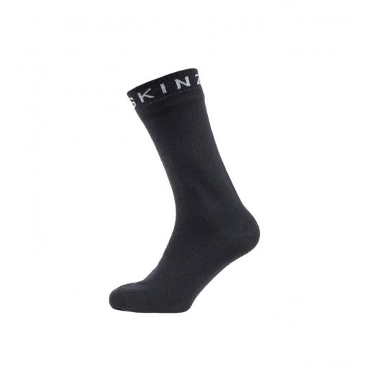 SealSkinz Super Thin Mid Waterproof Socks Black/Grey