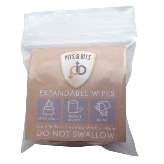 Pits & Bits Re-usable Expandable Wipes (4 pack)