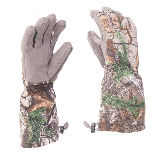 SealSkinz Camo Extreme Cold Weather Gauntlets Realtree Xtra/Beige