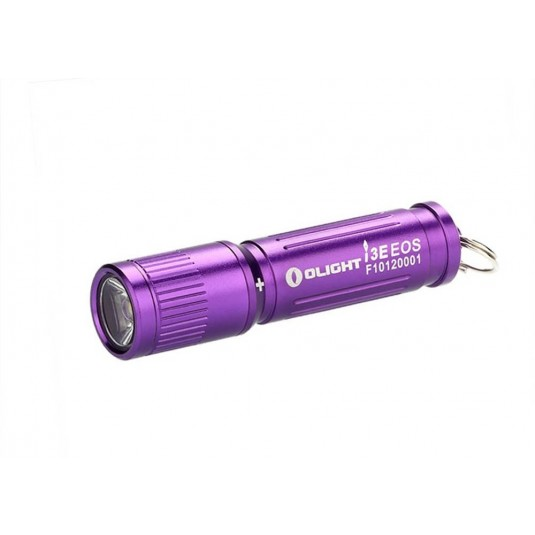 Olight i3E EOS Mono-Output LED Keychain Flashlight, Purple