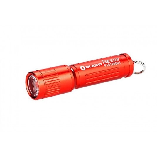 Olight i3E EOS Mono-Output LED Keychain Flashlight, Red