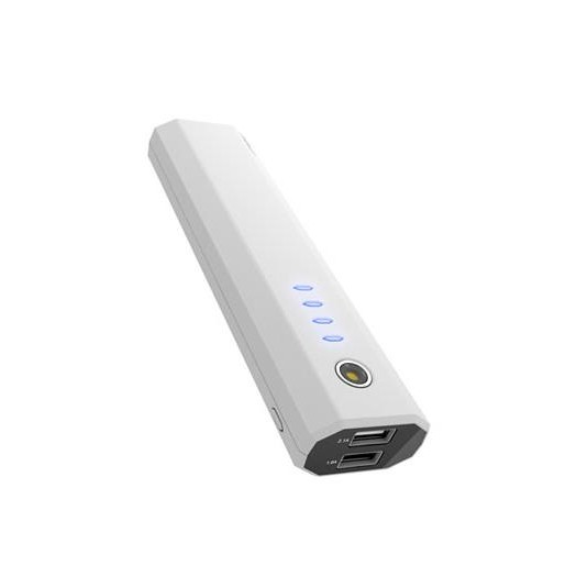 IWALK Extreme UBE10000D Dual USB Rechargeable 10000mAh Backup Battery for Smartphones and Tablets (White)