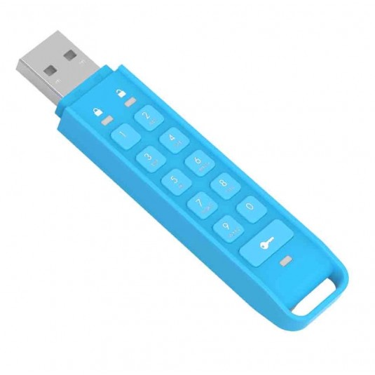IStorage datAshur 16GB Personal 256-bit USB Flash Drive - Blue