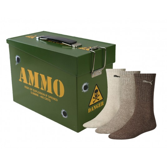 Fathers Day Gift Socks In An Ammo Box