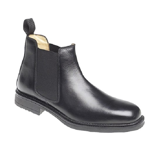 Roamers Black Leather Gusset Boot M278A