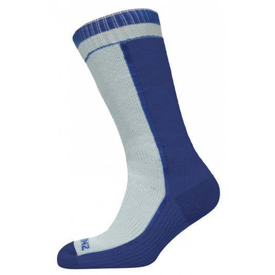 Sealskinz Mid Weight Mid Length Sock White/Navy