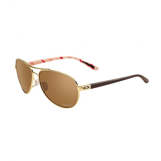 Oakley Feedback Sunglasses Polished Gold/Bronze Polarized Lens OO4079-08