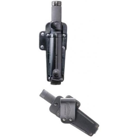 Friction Lock Expandable Leather Baton Holder