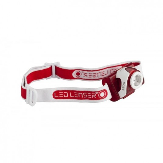 LED Lenser SEO 5 Headtorch Black (White Trim)