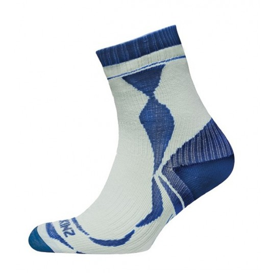 Sealskinz Thin Ankle Length Sock White/Navy