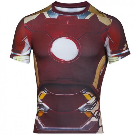 NEW MEN/'S UNDER ARMOUR AVENGERS ALTER EGO IRON MAN COMPRESSION T-SHIRT ~ LG