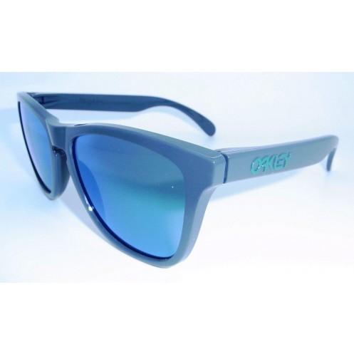c3215fa407 Oakley Toxic Blast Frogskins Sunglasses Dark Grey w Jade Iridium 9013-32